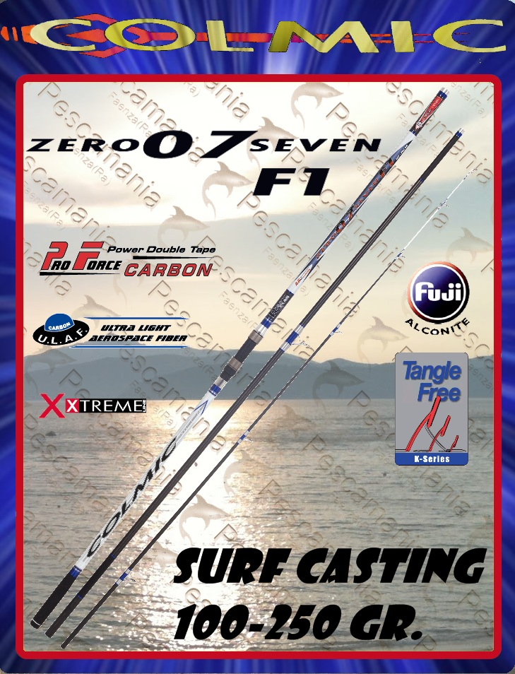 Canna Colmic zero seven F1 07 surf casting 100 250 gr ground pendolare